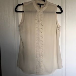 Banana Republic Ruffle Front Sleeveless Shirt